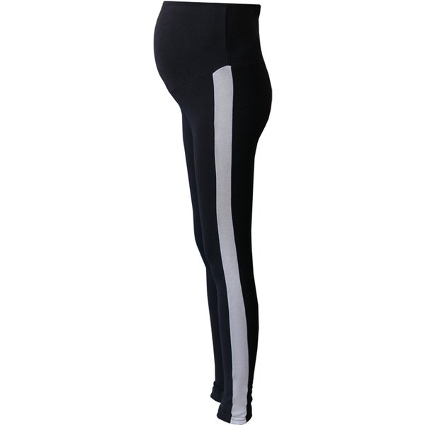 Pengpious maternity winter fashion pants of pregnant women stretch leggings side edge patchwork thick warm high waist trousers