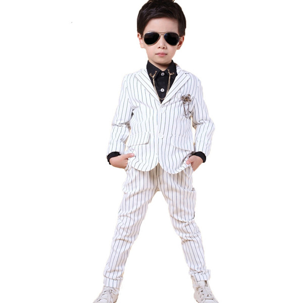 Baby boys Brand School suits for weddings formal flower boy clothing blazers jacket Two-piece child kids prom Groom Suits