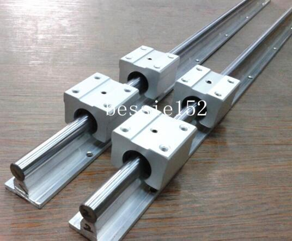 2X SBR12-1500mm 12MM SUPPORTED LINEAR RAIL SHAFT 4 SBR12UU Rounter Bearing