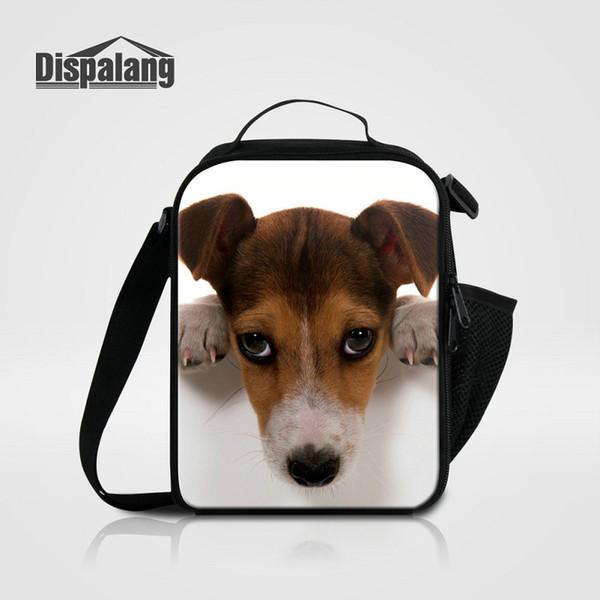 Nuovo Porable Thermo Lancheira Sacchetti Pranzo Per Bambini Jack Russel Pug Dog Multifunzione Cibo Picnic Lunchbox Per Studenti Adulti Borse Frigo
