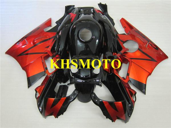 Custom Motorcycle Fairing kit for Honda CBR600F2 91 92 93 94 CBR600 F2 1991 1992 1994 ABS Red black Fairings set+Gifts HG10