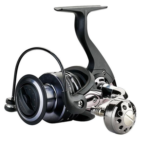 Ao ar livre Roda Os Carrosséis Lulas de Pesca Lidar Com Alça Esquerda De Metal Em Aço Inoxidável Shaft Traseira Rebocador ferramenta de Rolagem de plástico venda C18110601