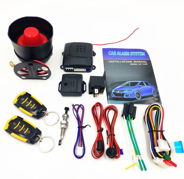 CarBest L218 3-Channel 1-Way Car Alarm Vehicle Security Keyless Entry System