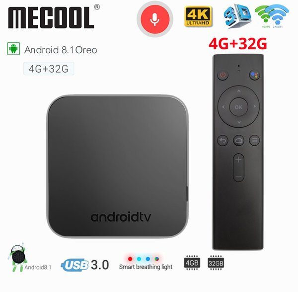 Mecool Km9 4gb Ddr4 Ram 32gb Rom Android 8 1 Android Tv Box S905x2 5g Wifi  Bluetooth 4 1 4k Hd Voice Control Tv Box Set Top Tv Box Quad Core Tv Boxes