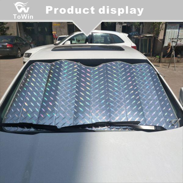 Araba Güneşlik Aracınızı Serin Tutun, Araba Camı için Katlanabilir Güneşlik Maksimum UV ve Güneş Korumasını Sağlar, Cam Güneşlik