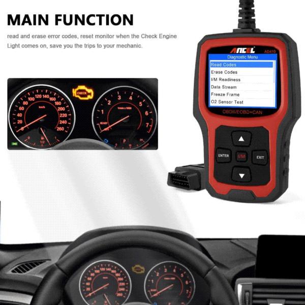 Ancel Original Car Diagnostic Tool OBD2 Automotive Scanner AD410 OBD 2 EOBD Better ELM327 Engine Fault Code Reader Scan Tools