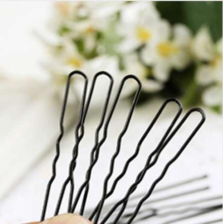 20 Unid Pinzas Para el Cabello de Metal Negro Metal Fino en forma de U Horquillas para el cabello Pinzas para el cabello Barrette Hair Styling Braider Peluquería Accesorios
