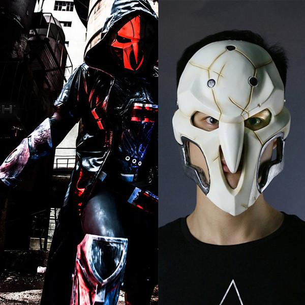 Nuevo 2017 de alta calidad Pvc Mask Party Cosplay traje Prop para videojuego Reaper