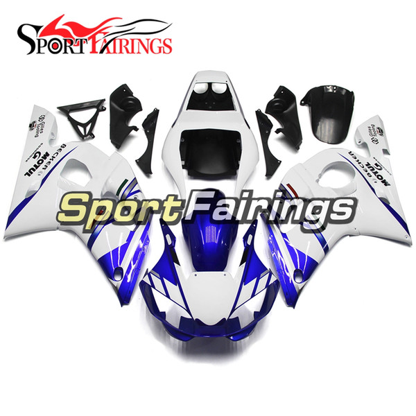 Motorcycle Full Fairings For Yamaha YZF600 R6 YZF-R6 1998 1999 2001 2002 Injection ABS Plastic Motorcycle Body Kit Gloss Blue White New