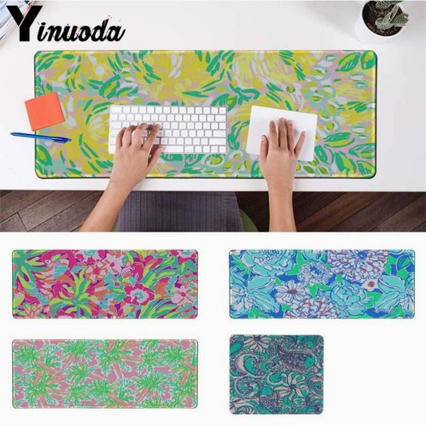 Yinuoda lily flower painting Durable Rubber Mouse Mat Pad Size for 30x90cm and 40x90cm Gaming Mousepads