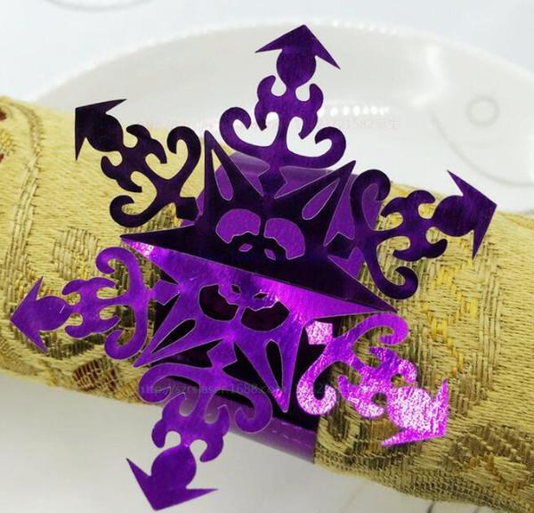 Paper Napkin Rings Serviette Rings Napkin Holder West Dinner Towel Napkin Ring Snowflake Bell Christmas Tree Party Decoration