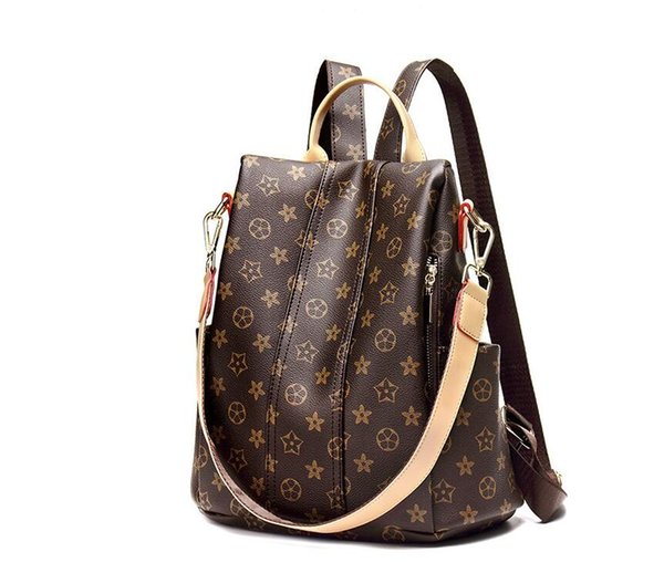 2018 shoulder bag school bag new wild dual-use printing anti-theft fashion backpack
