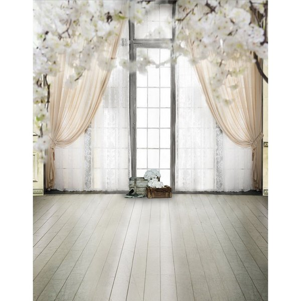 Free shipping indoor vinyl cloth print 3D wedding curtain floral hall photo studio backgrounds for portrait photography backdrop