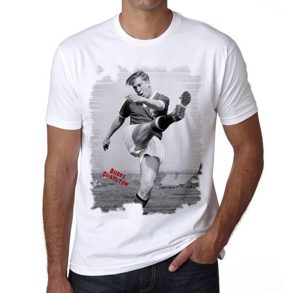 Bobby Charlton T-shirt Homme T-shirt, Tshirt, T-shirt Homme Imprimer T-shirt à manches courtes Nouveau Métal T-shirt à manches courtes