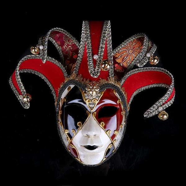 High End Mulheres Masquerade Máscaras Desenho Colorido Cabeça Cheia Máscara Para O Dia Das Bruxas Palhaço Executar Adereços Nova Chegada 50 wp BB