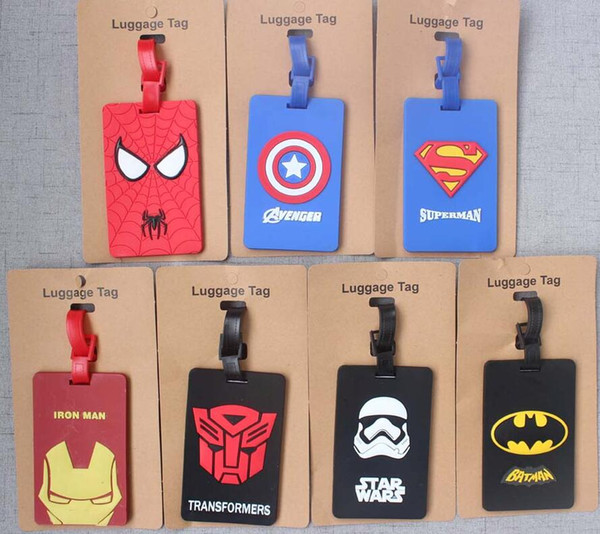 Avengers Captain America Iron Man batman Luggage Tag ID Address Holder Baggage Boarding Tags Label Travel Accessories Hot