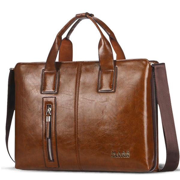 ad8053cf892b Портфель из натуральной кожи мужской портфель портфель, мужские сумки  бизнес-сумка деловая сумка модные