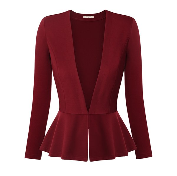 Wholesale-Women Blazers and Jackets Autumn Slim Ladies Blazers Office Work Wear Business Jacket Tunic Top Elegant Outwear blazer feminino