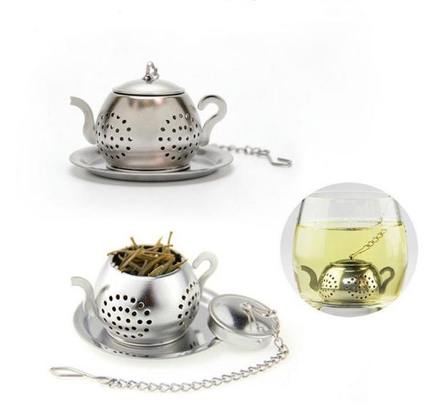 MINI Cute Stainless Steel Tea Infuser Pendant Design Home Office Tea Strainer Gift Teapot Type Creative Tea Accessories