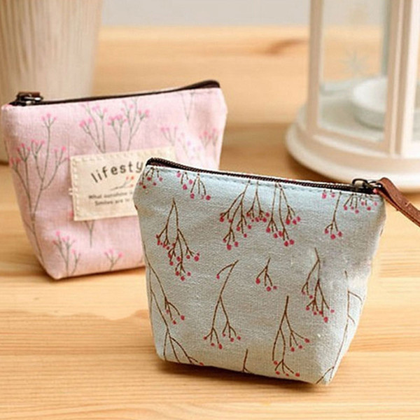 Pink sugao 2018 new style high quality cute flower canvas luxury coin purse girls coin pouch designer wallet
