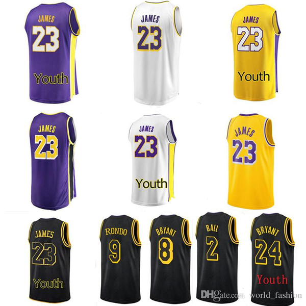 low priced 467d7 4a142 2018 23 James Lakers Jersey 2019 Los Angeles Lakers Lebron James New Season  Jerseys 18 19 Black City Basketball Jerseys Gold Yellow White Purple From  ...