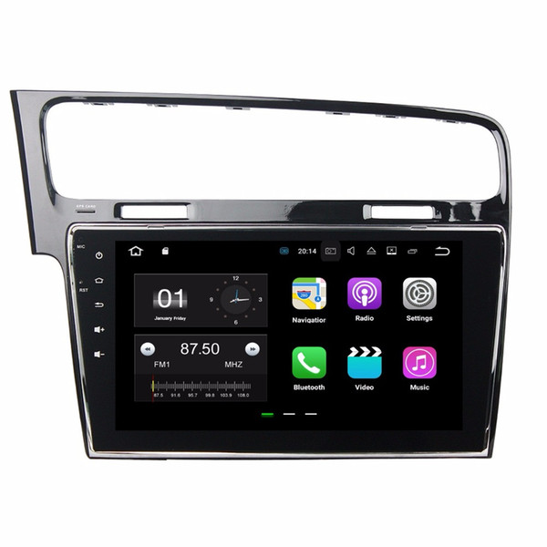 "Android 7.1 Quad Core 10.1"" Car Radio dvd GPS Multimedia Head Unit Car DVD for VW Volkswagen Golf 7 2013 2014 2015 WIFI Mirror link"