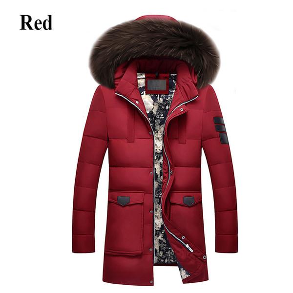 Park Mit Wärme Winter Jacke Kapuze Lange Dickere Freizeit Hohe Mode Haarkragen Qualität Große Daunenmantel Männer Marke Großhandel kiXTZuOPw