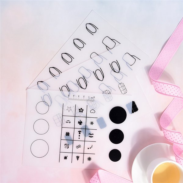 1PCS 3 Styles Silicone Transparent Pad Fingernails Finger Nail Mat Stamping Nail Practise Manicure Art Tool