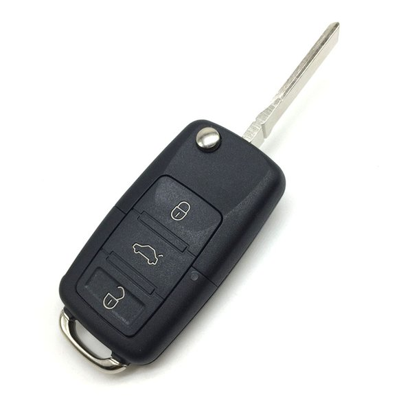 For Volkswagen 3 Button Flip Remote Folding Car Key Shell with Screwdriver for VW Beetle Golf Jetta Passat Uncut Blade Car Key Case Cover