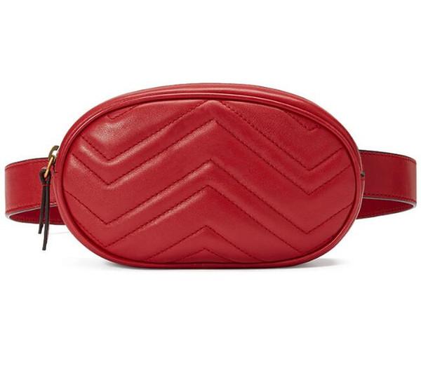 top popular New leather Love heart V Wave Pattern waist bags women men shoulder bags Belt Shoulder Bag Women chain Bags Handbags 2020