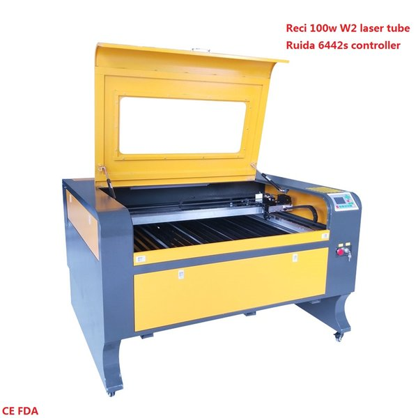 1000*800 laser engraver cutter ruida 6442s controller water chiller cw3000 laser engraving cutting machine with reci 100w W2 laser tube