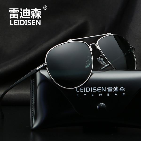 LEIDISEN Men Classic Pilot Sunglasses Male Polarized Driving Sun Glasses Eyewear Gafas oculos de sol UV400