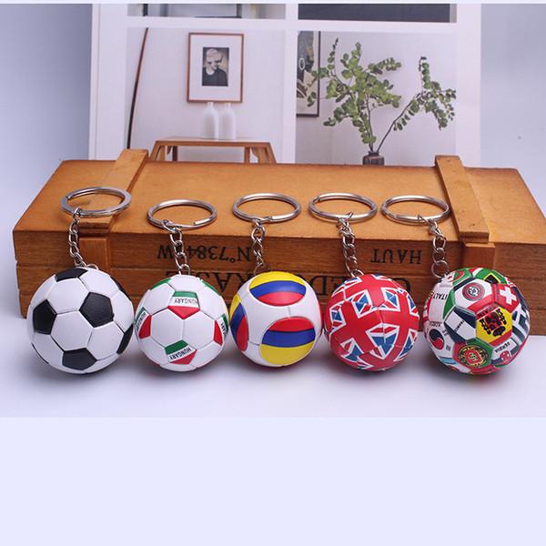 5styles World Cup Football KeyChains metal Keyring Keyfob Team Fan Souvenir Gift Fans Decor Souvenir Gift Key Holder FFA493