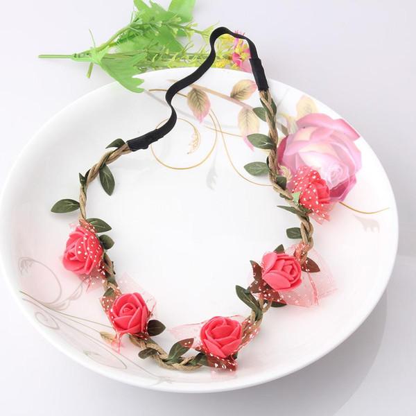 M MISME Filles Mode Fleurs Bandeaux Parfait Qualité Guirlande Accessoires Cheveux pour Femmes Floral Bande De Cheveux Fine Guirlande Chapeaux