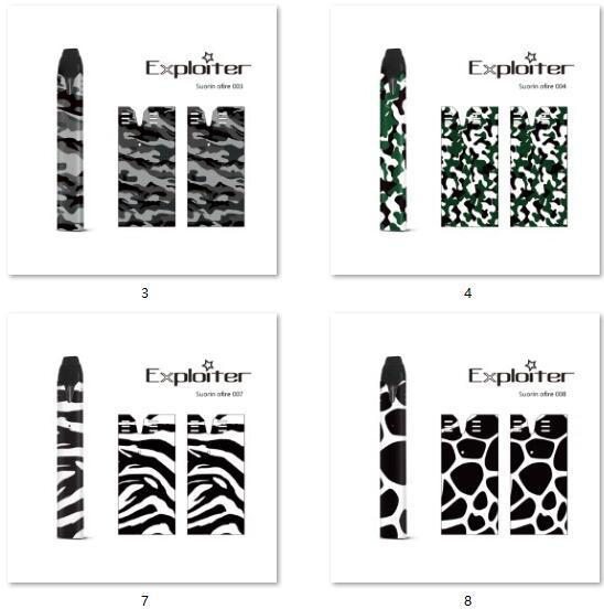 35 Designs Ofire Vinyl Skin Wraps Sticker Cases Cover Sleeve For Ofire Vape Mod Protective Film Stickers DHL Free