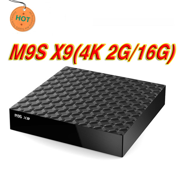 Best price 2GB 16GB M9S X9 4K Android 6.0 Smart IPTV TV Box Bluetooth RK3229 WiFi 4K Media Player