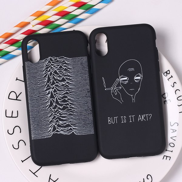 Geometric Cool 3d Black Pop Street Fashion Abstract Soft Tpu Silicone Candy Case Coque For Iphone 6 6s 5 5s Se 8 8plus X 7 7plus Leather Cell Phone