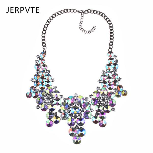 JERPVTE 2018 New Luxury Crystal Opulente Halskette Frauen Bohemian Strass Anhänger Halsband Halsband Halskette Modeschmuck