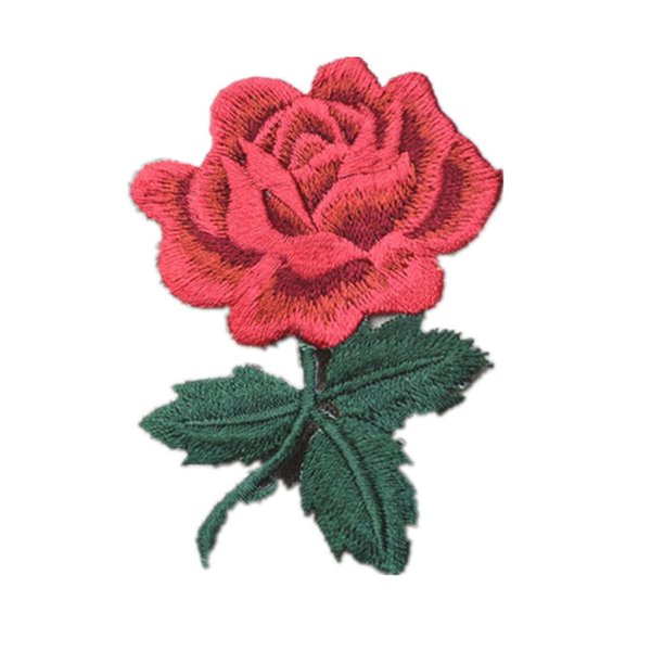 Embroidered Flower Rose Patches Sewing Iron On Badge For Bag Jeans Hat Appliques DIY Handwork Sticker Decoration Apparel Accessories