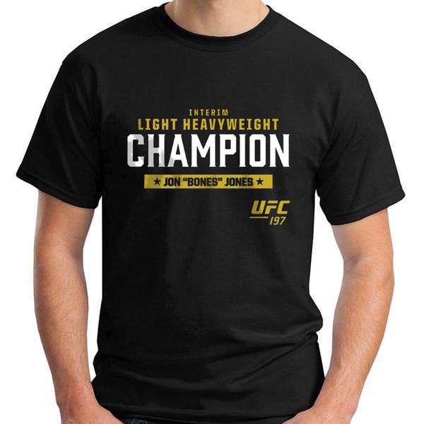 Neu Die Knochen Jon Jones Crown MMA UFC Kurzarm Schwarz Herren T-Shirt S-5XL 2018 Neue Marke Herren T Shirt Baumwolle Kurzarm Druck