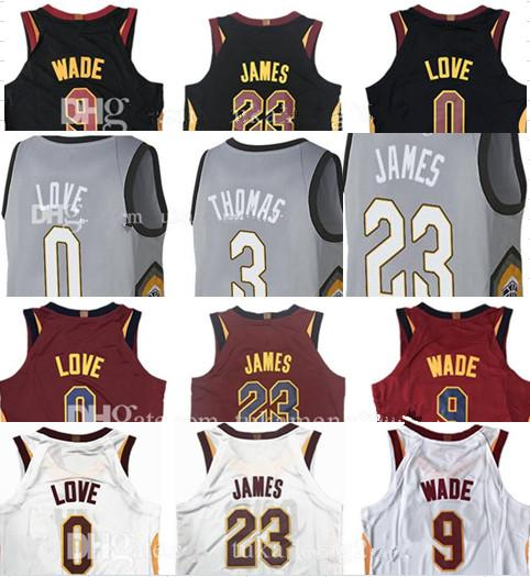 separation shoes c3128 69820 2019 2018 New 9 Dwyane Wade 23 LeBron James Jersey All Star 0 Kevin Love 3  Isiah Thomas 1 Derrick Rose 5 JR Smith The City Red Black Gray Jerseys From  ...