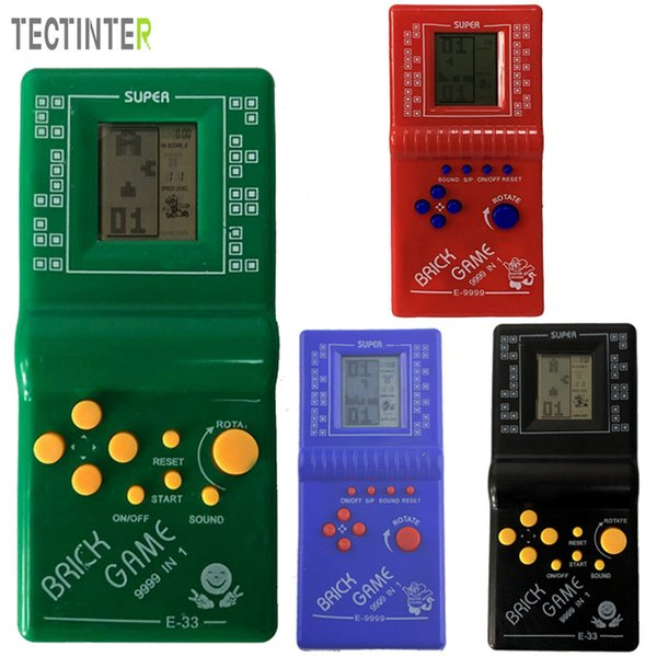 Handheld Game Players Classic Childhood Tetris Hand held LCD Electronic Game Toys Pocket Console