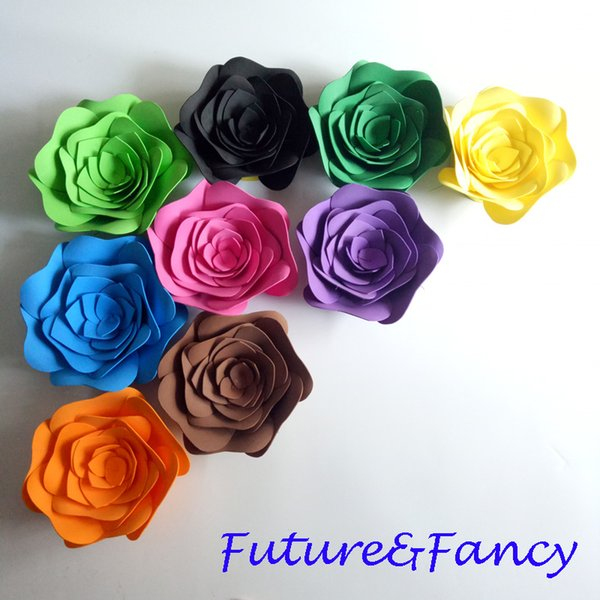 9PCS Set Giant Flower Foam Large Flowers Gorgeous Rose For Wedding props mariage Backdrops Decorations Windows Display