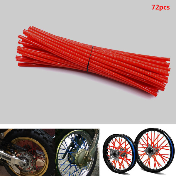For 36pcs / set motorcycle cover wheel spokes Wraps Skins Covers Motocross Dirtbike Dirt Bike cool accessories rims Protector