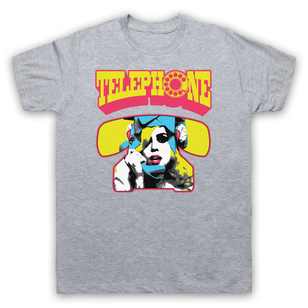 LADY GAGA TELEPHONE MONSTER UNOFFICIAL POP STAR ICON T-SHIRT ADULTS & KIDS SIZES Print T-Shirt Male Brand