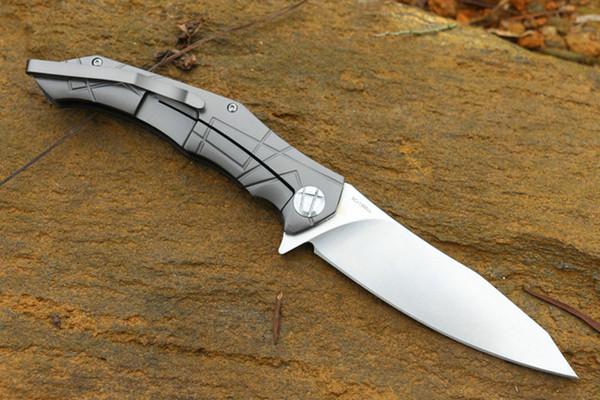 WOLF gratuit Flipper grande taille couteaux OEM EDC 9CR18 ponçage finition lame G10 roulement à billes poignée pliant poche cadeau couteau P125F