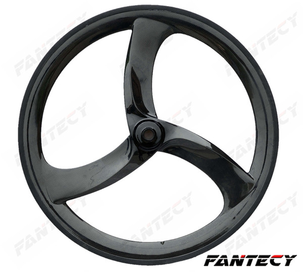 700C tri-spoke carbon wheels 56mm clincher fixed gear 3-spokes unique design for Time/Track/Roadl Racing bicycle carbon wheelet