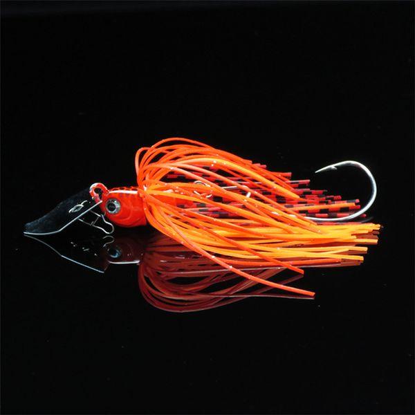 Rubber Jig Lead Hook Baffle Bass Hook Fishing Lure Jig Hooks 10g 70mm Spinner Buss Bait