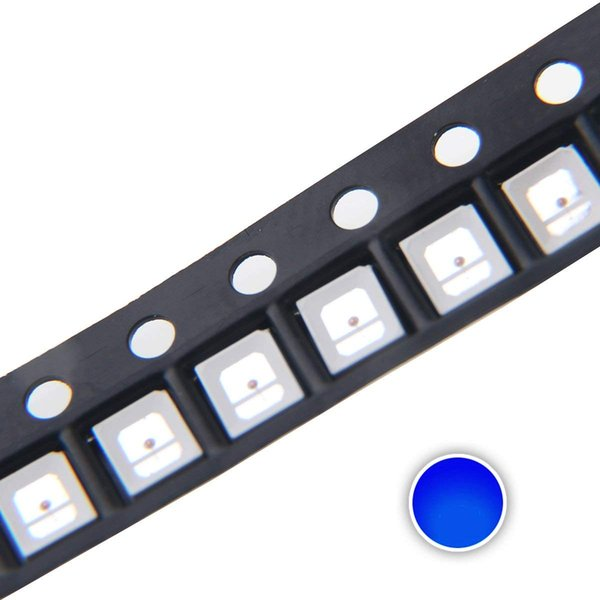 100 pcs 2835 Blue SMD LED Diode Lights Super Bright Lighting Bulb Lamps Electronics Components Light Emitting Diodes