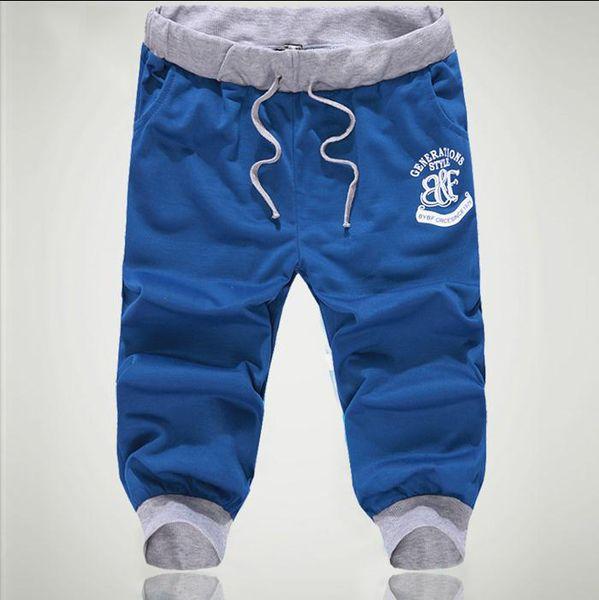 NEW 2018 Summer cropped elastic Waist hip Hop street joggers mens Beam Foot men's pants casual Calf-Length Capri harem pants